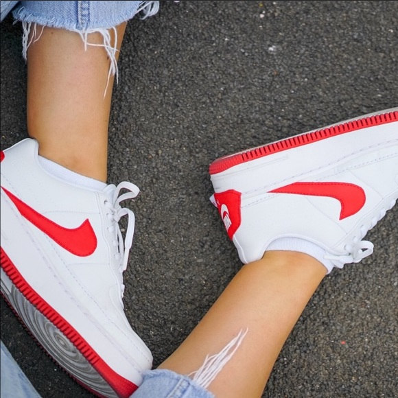 competitive price 0e14b 6536f Brand New Nike Air Force 1 Jester XX Red NWT